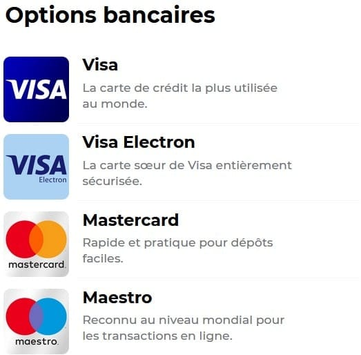 Options bancaires